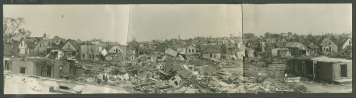 Cyclone damage in Indianapolis, 1927