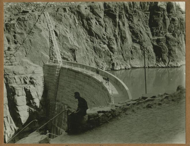 Shoshone Dam near the entrance to Yellowstone Park, Wyoming.