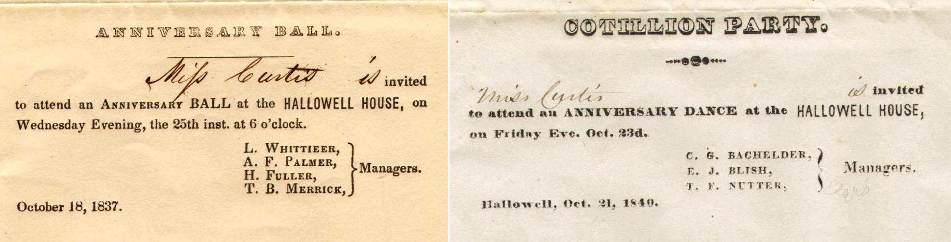 Hallowell House invitations