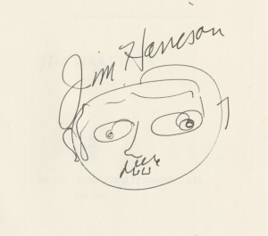 Jim Harrison signed logo