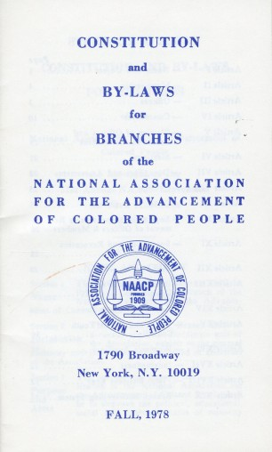 (1) NAACP Constitution and Bylaws