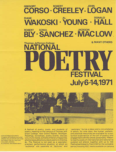 National Poetry Festival poster, 1971