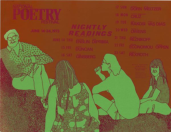 National Poetry Festival poster, 1973