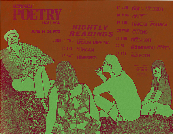 National Poetry Festival poster, 1973