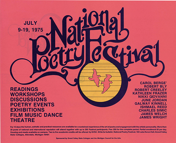 National Poetry Festival poster, 1975