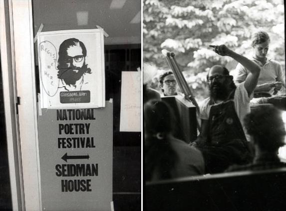 Allen Ginsberg at National Poetry Festival, 1973