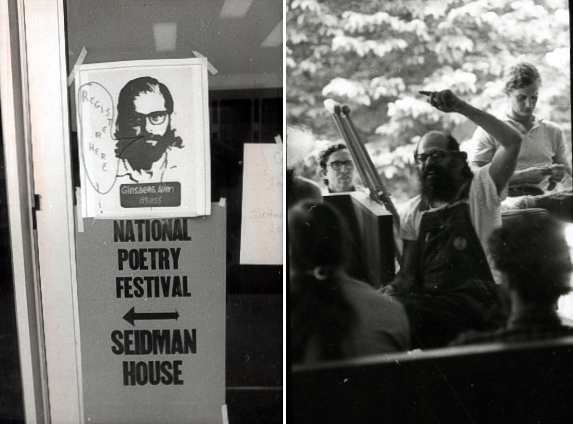 Allen Ginsberg at National Poetry Festival, 1973
