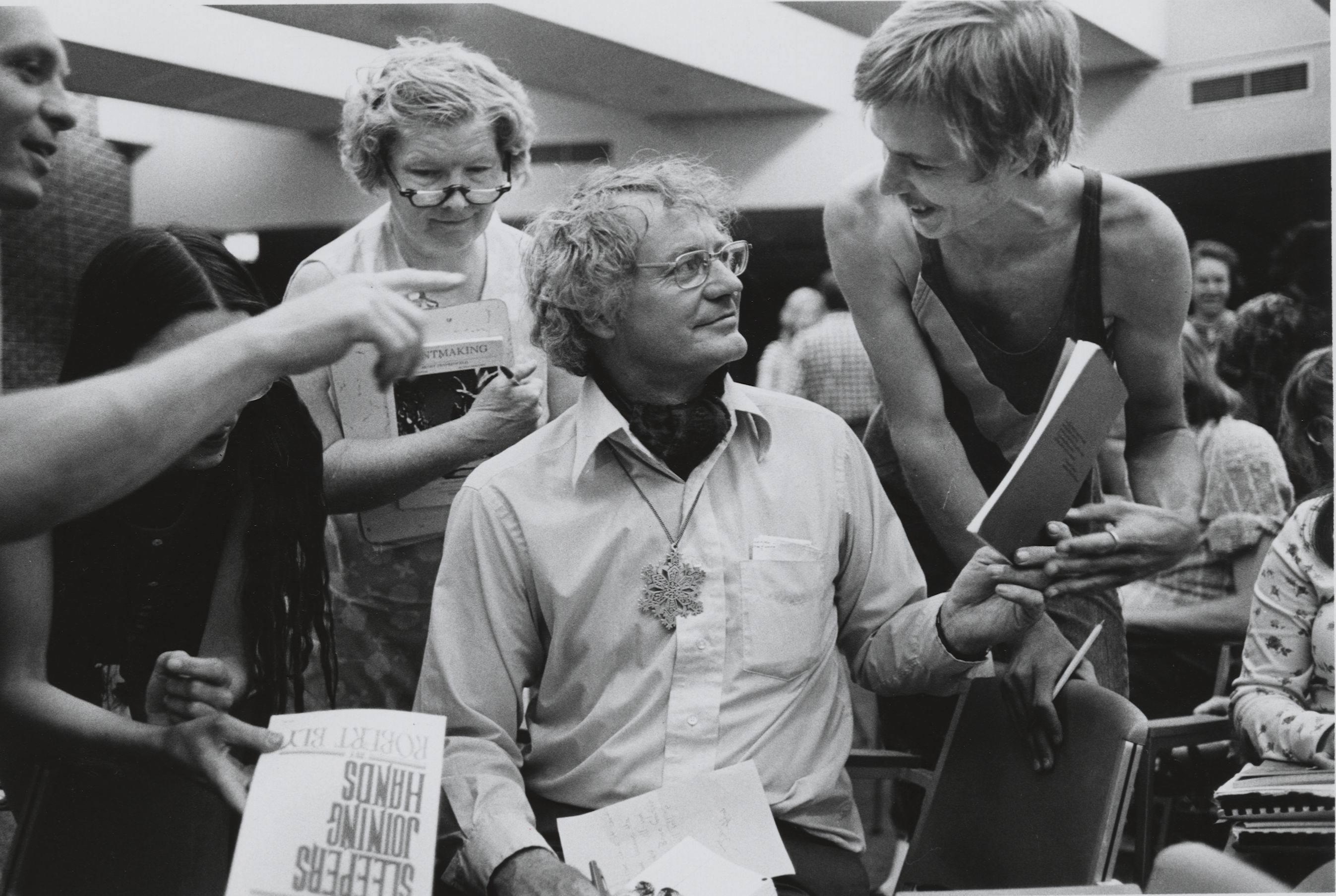 Robert Bly at National Poetry Festival, 1975