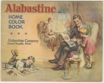 Alabastine coloring book cover