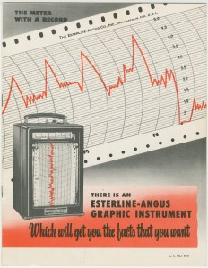 Advertising brochure from the Esterline-Angus Company