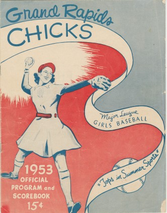 Grand Rapids Chicks 1953 program