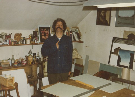 Mike McDonnell in his studio.