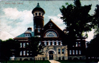 Poscard. Alpena High School, 1915
