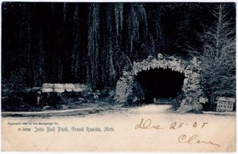 Postcard. John Ball Park, 1905