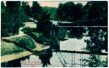Postcard. Flint River Bridge, Montrose, 1911