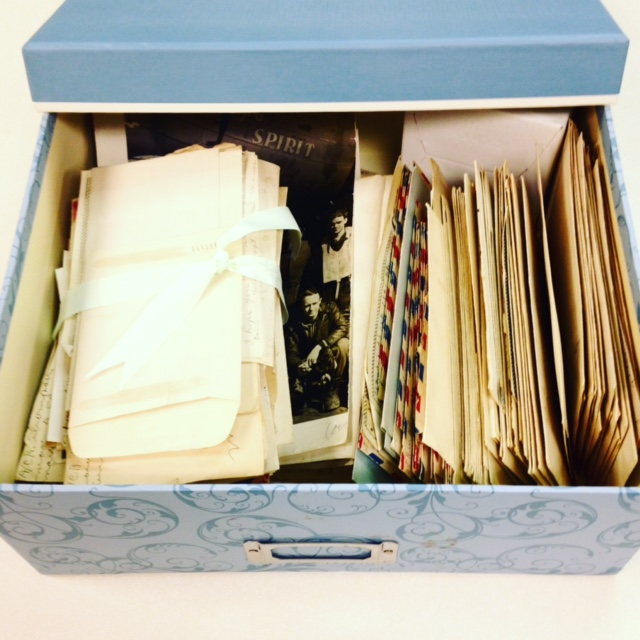 Box full of letters and documents